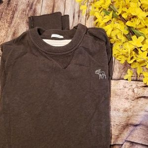 Mens A&F long sleeve muscle fit crew neck